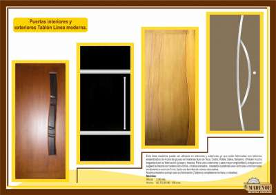 Catalogo de productos for Puertas madera interiores catalogo