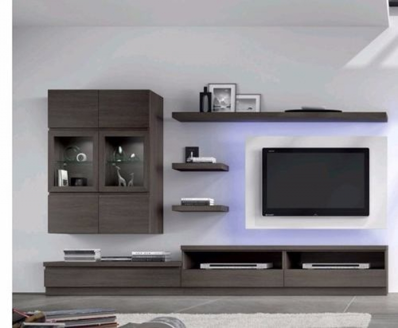 Muebles de tablaroca para tv for Racks y modulares para living